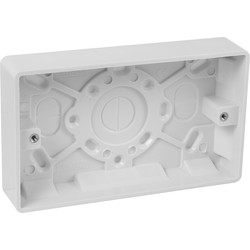 Scolmore Click Click Mode Moulded Box 2 Gang 25mm - 93511 - from Toolstation