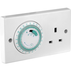 Unbranded Greenbrook 24 Hour Mechanical Timer Socket  - 93526 - from Toolstation