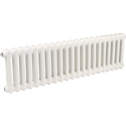 Arlberg Arlberg 2-Column Horizontal Radiator 300 x 992mm 1701Btu White - 93547 - from Toolstation