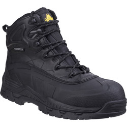Amblers Safety Amblers FS430 Waterproof Safety Boots Black Size 11 - 93553 - from Toolstation