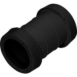 Push Fit Straight Coupling 40mm Black