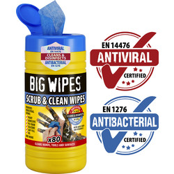 Big Wipes Big Wipes Scrub & Clean Wipes 80 Wipes - 93625 - from Toolstation