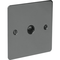 Axiom  Flat Plate Black Nickel 20A Flex Outlet Plate  - 93629 - from Toolstation