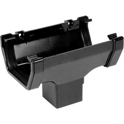 Aquaflow Square Line Running Outlet Black - 93647 - from Toolstation
