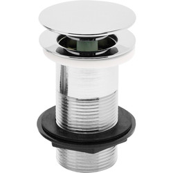 "Highlife Click-clac 1 1/4"" Chrome Plated Brass Basin Plug Unslotted - 93683 - from Toolstation"