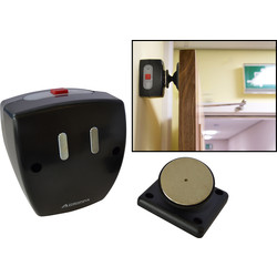 Agrippa Agrippa Sound Activated Battery Operated Door Holder Black - 93684 - from Toolstation