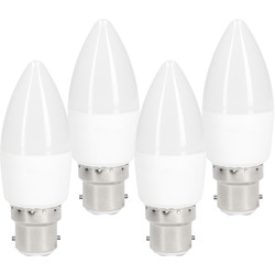 Meridian Lighting LED Frosted Dimmable Candle Lamp 5.5W BC 470lm - 93789 - from Toolstation