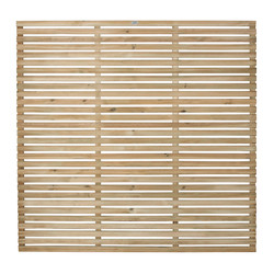 Forest Garden Slatted Fence Panel - 4 Pack