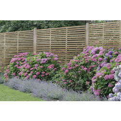 Forest Forest Garden Slatted Fence Panel 6' x 6' - 93866 - from Toolstation