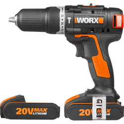 Worx Worx WX384 20V MAX Li-Ion Cordless Brushless Combi Drill 2 x 2.0Ah - 93920 - from Toolstation