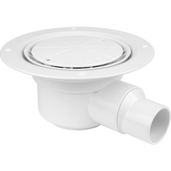 McAlpine McAlpine 50mm Water Seal Trap Shower Gully White Cover Plate - 93970 - from Toolstation