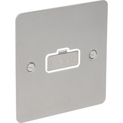 Flat Plate Satin Chrome Fused Spur 13A Unswitched - 93985 - from Toolstation