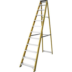 Lyte Ladders Lyte Heavy Duty Fibreglass Swingback Step Ladder 12 Tread, Closed Length 2.77m - 94014 - from Toolstation
