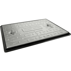 "Aquaflow Galvanised Cover & Frame 24"" x 18""  - 94026 - from Toolstation"