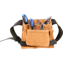 Silverline Leather Tool Pouch Belt  - 94038 - from Toolstation