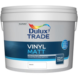 Dulux Trade Dulux Trade Vinyl Matt Emulsion Paint White 10L - 94109 - from Toolstation