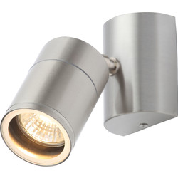 Coast Islay IP44 Marine Grade 316 Stainless Steel Adjustable Up or Down Wall Light 1 x GU10 Stainless - 94117 - from Toolstation