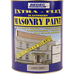 Bedec Bedec Extra-Flex Elastomeric Masonry Paint Light Grey 5L - 94165 - from Toolstation