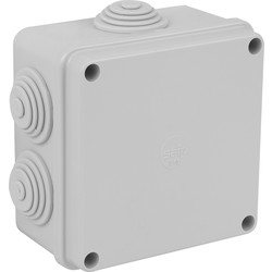 Moulded Enclosure IP55 100 x 100 x 60mm - 6 Entries - 94184 - from Toolstation