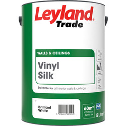 Leyland Trade Leyland Trade Vinyl Silk Emulsion Paint 5L Brilliant White - 94194 - from Toolstation
