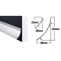 Stormguard Stormguard Rain Deflector Aluminium 32mm - 94221 - from Toolstation