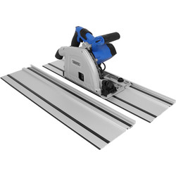 Draper 1200W 165mm Plunge Saw and Rails 240V