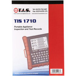 TIS Test Certificate Book Portable Appliance Test