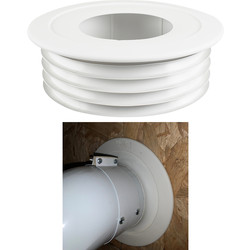 Pipesnug FlueSnug 100mm White - 94308 - from Toolstation