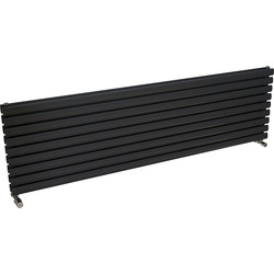 Ximax Ximax Bristol Double Horizontal Designer Radiator 526 x 1800mm 5313Btu Anthracite - 94311 - from Toolstation