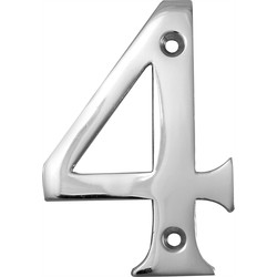 Chrome Numeral 75mm 4