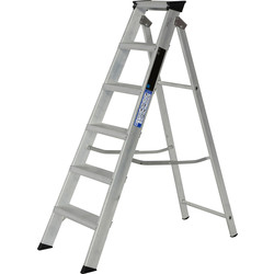 Youngman Youngman Industrial Builders Step Ladder 6 Tread SWH 2.60m - 94340 - from Toolstation