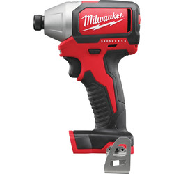Milwaukee Milwaukee M18BLID 18V Li-Ion Cordless Brushless Compact Impact Driver Body Only - 94428 - from Toolstation