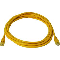 1.0m CAT5E UTP Patch Lead Yellow - 94491 - from Toolstation