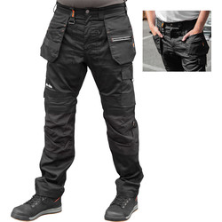 "Scruffs Scruffs Trade Flex Trouser 28"" S Black - 94514 - from Toolstation"