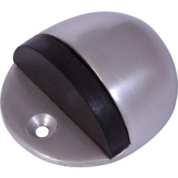 Unbranded Oval Door Stop Aluminium - 94529 - from Toolstation