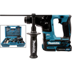 Makita HR166DSAE1 10.8V CXT Cordless Brushless SDS Plus Rotary Hammer Drill & Accessory Kit 2 x 2.0Ah