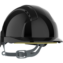 JSP JSP EVOLite® Slip Ratchet Vented Safety Helmet Black - 94539 - from Toolstation
