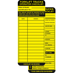 Spectrum Industrial Forklift Tag Inserts  - 94573 - from Toolstation