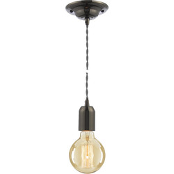Inlight Vintage Pendant Cable Set Grey 40W Max ES (E27) - 94620 - from Toolstation