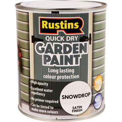 Quick Dry Garden Paint 750ml Snowdrop