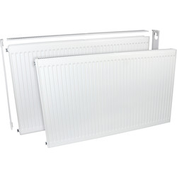 Barlo Delta Radiators Barlo Delta Compact Type 21 Double-Panel Single Convector Radiator 600 x 1100mm 5067Btu - 94717 - from Toolstation