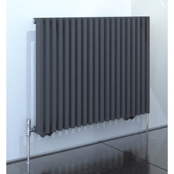 Kudox Kudox Xylo Anthracite Designer Radiator 600 x 780mm 2556Btu - 94766 - from Toolstation