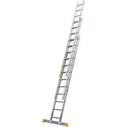 Lyte Ladders Lyte Trade Extension Ladder 3 section, Closed Length 3.42m - 94769 - from Toolstation