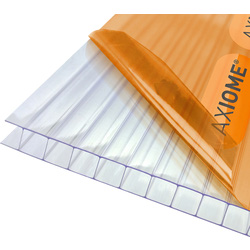 Axiome Axiome 10mm Polycarbonate Clear Twinwall Sheet 690 x 2500mm - 94800 - from Toolstation