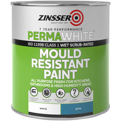 Zinsser Zinsser Perma White Self-Priming Interior Paint Satin White 1L - 94942 - from Toolstation