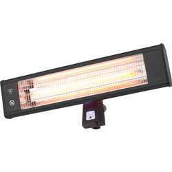 ZInc Wall / Stand Mount Patio Heater 1.8kW IP44 1800W - 94984 - from Toolstation