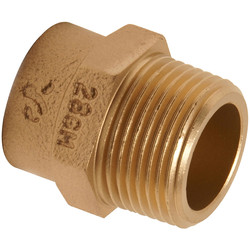 "Pegler Yorkshire Pegler Yorkshire Male Coupling 22mm x 3/4"" - 95010 - from Toolstation"