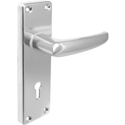 Hiatt Contract Aluminium Door Handles Lock Polished - 95134 - from Toolstation