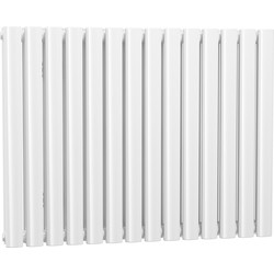 Cassellie Double Panel Horizontal Designer Radiator 633 x 826mm White 3320Btu - 95197 - from Toolstation