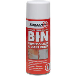 Zinsser Zinsser B-I-N Primer Sealer Spray Paint White 400ml - 95263 - from Toolstation